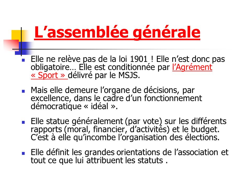L association d finition de l association ppt video online t l charger - Organisation bureau de vote ...
