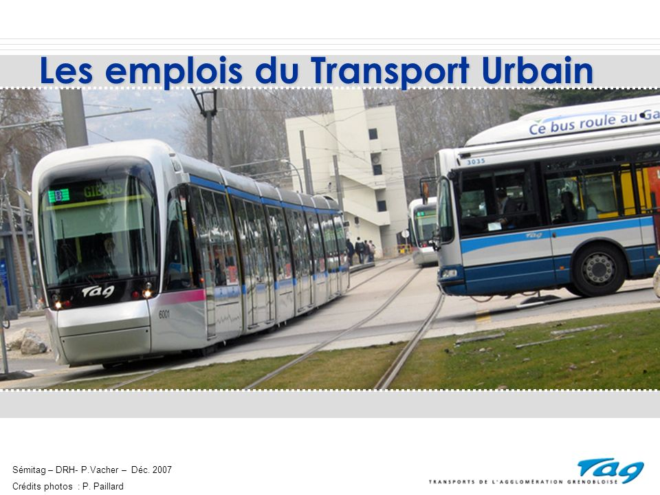 Les emplois du Transport Urbain