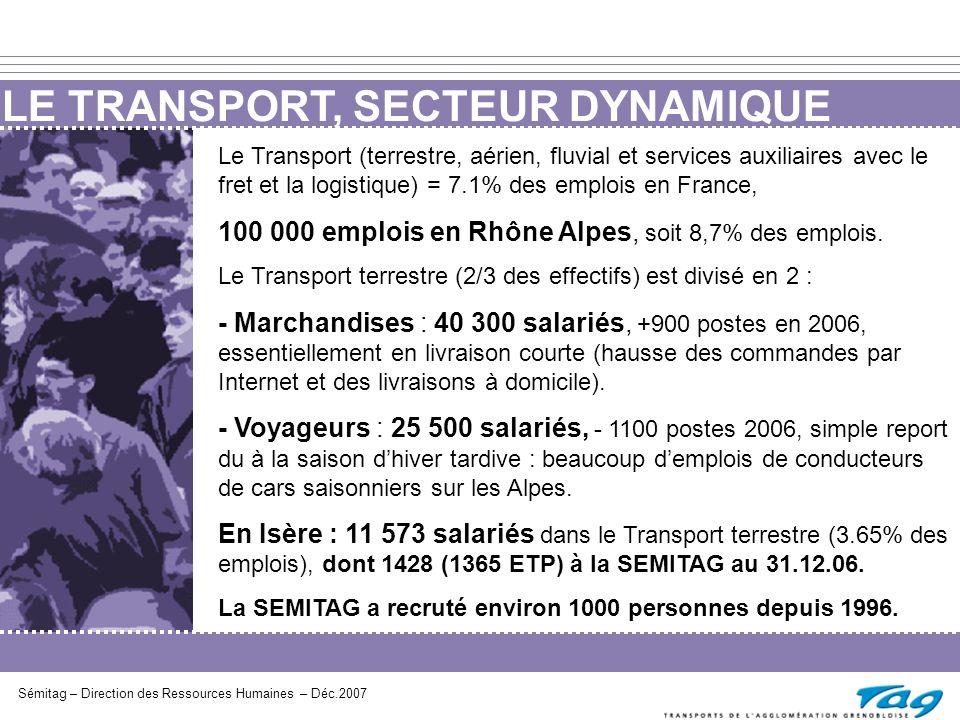 LE TRANSPORT, SECTEUR DYNAMIQUE