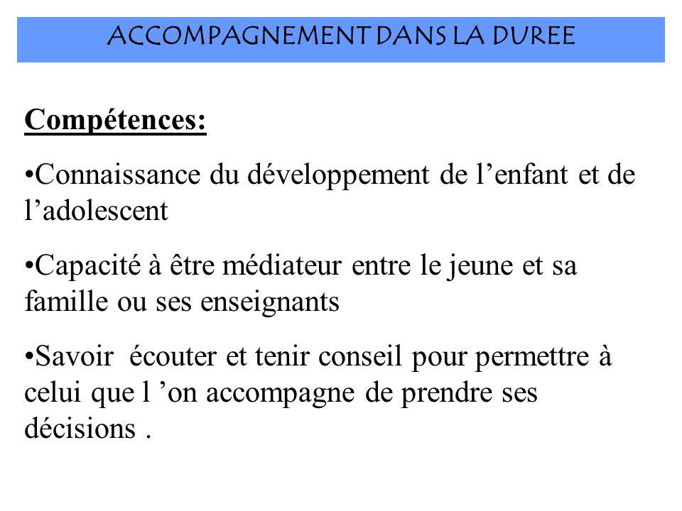 ACCOMPAGNEMENT DANS LA DUREE