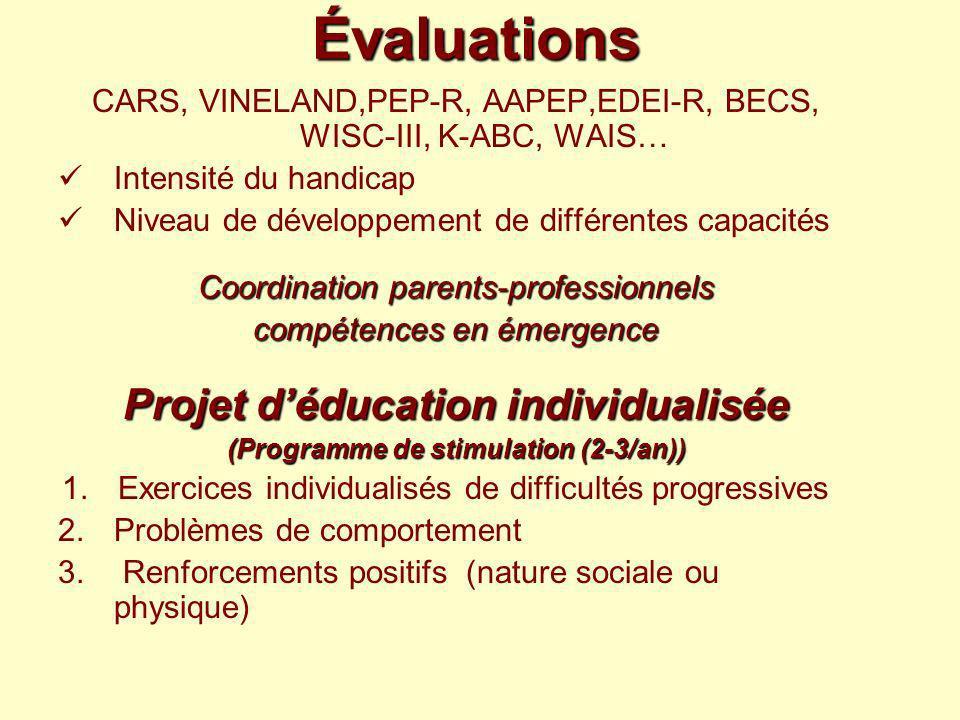 Projet d'éducation individualisée (Programme de stimulation (2-3/an))