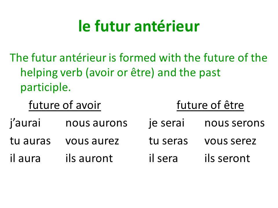 le futur antérieur