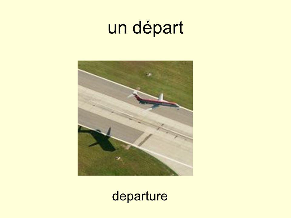 un départ departure