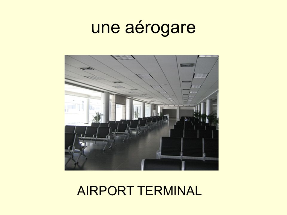 une aérogare AIRPORT TERMINAL