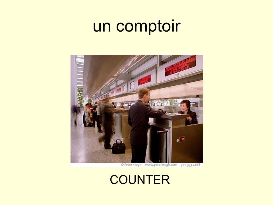 un comptoir COUNTER