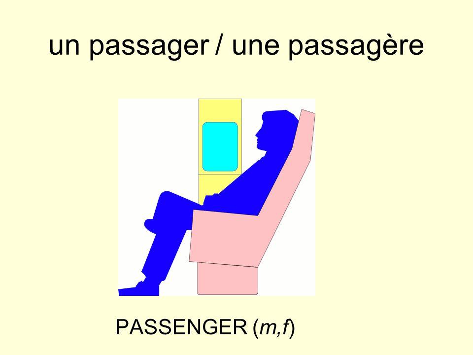 un passager / une passagère