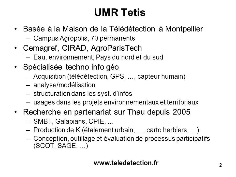 UMR Tetis Basée à la Maison de la Télédétection à Montpellier