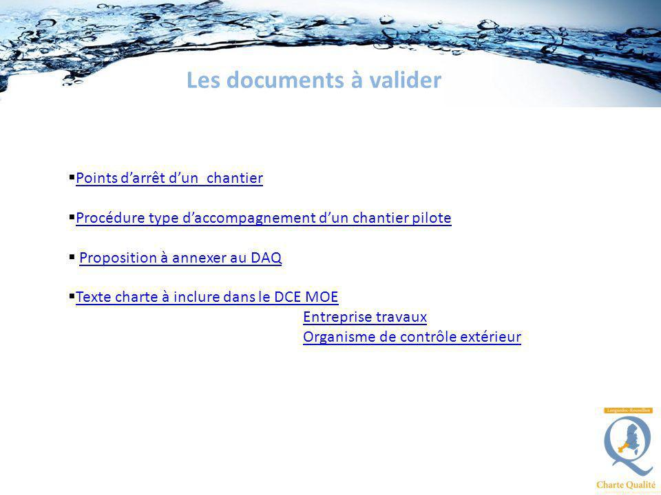 Les documents à valider