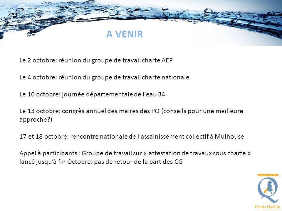 A VENIR Le 2 octobre: réunion du groupe de travail charte AEP