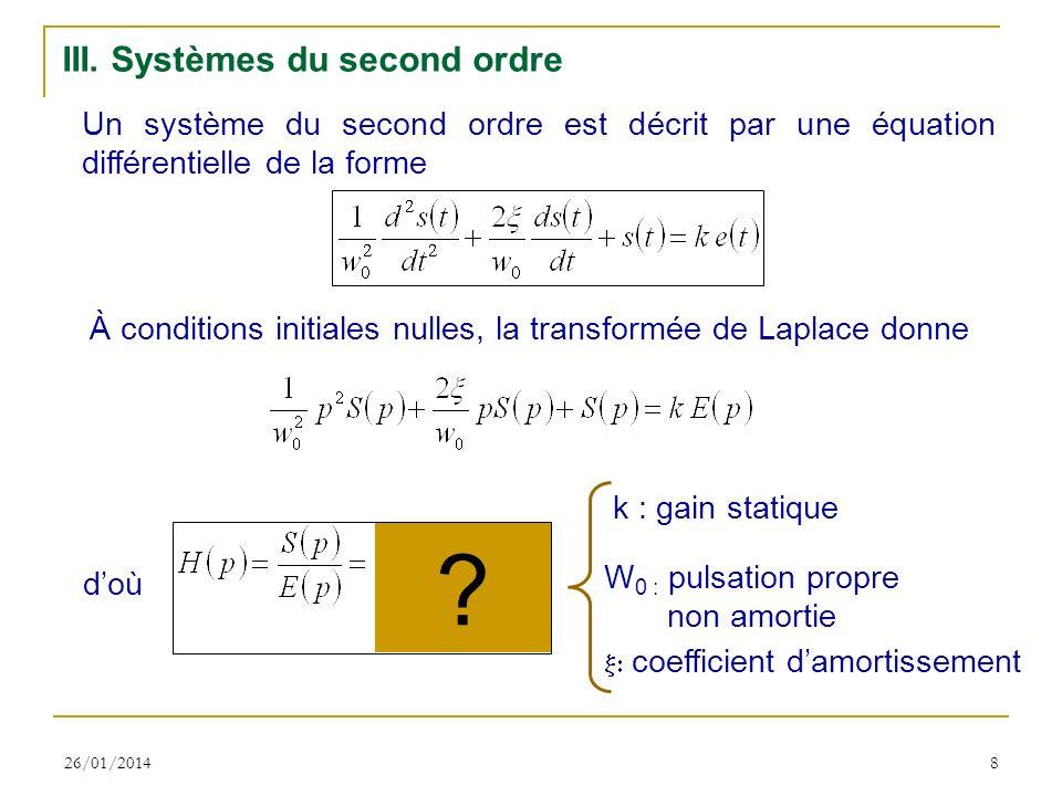 III. Systèmes du second ordre