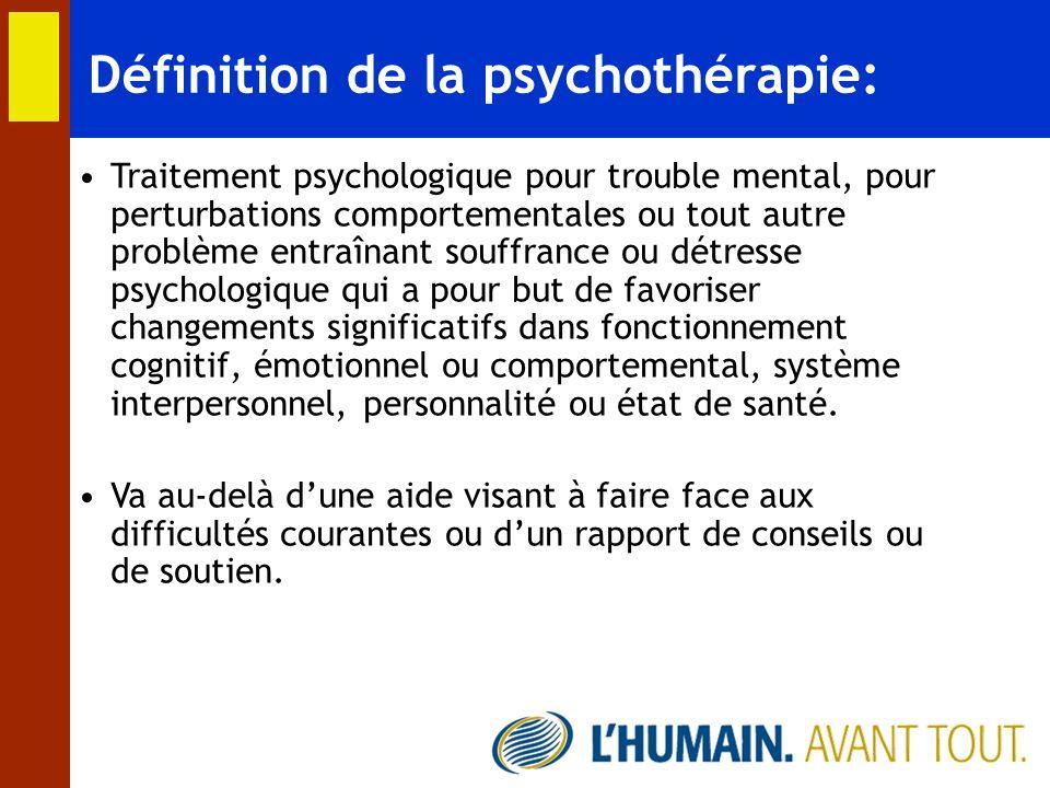 Définition de la psychothérapie: