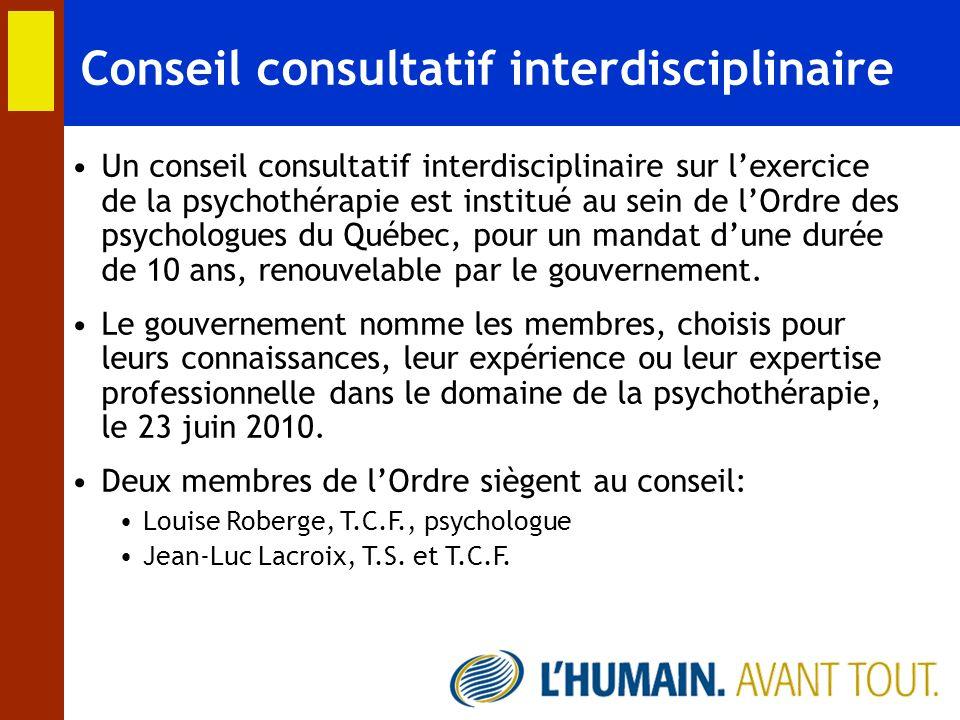 Conseil consultatif interdisciplinaire