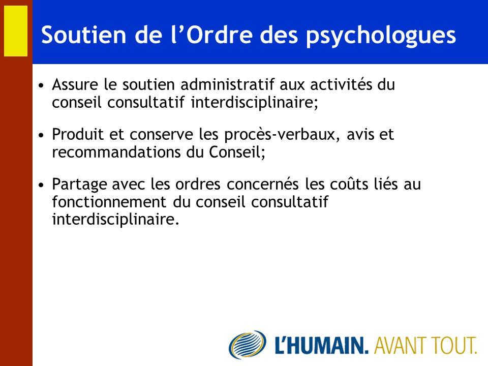 Soutien de l'Ordre des psychologues