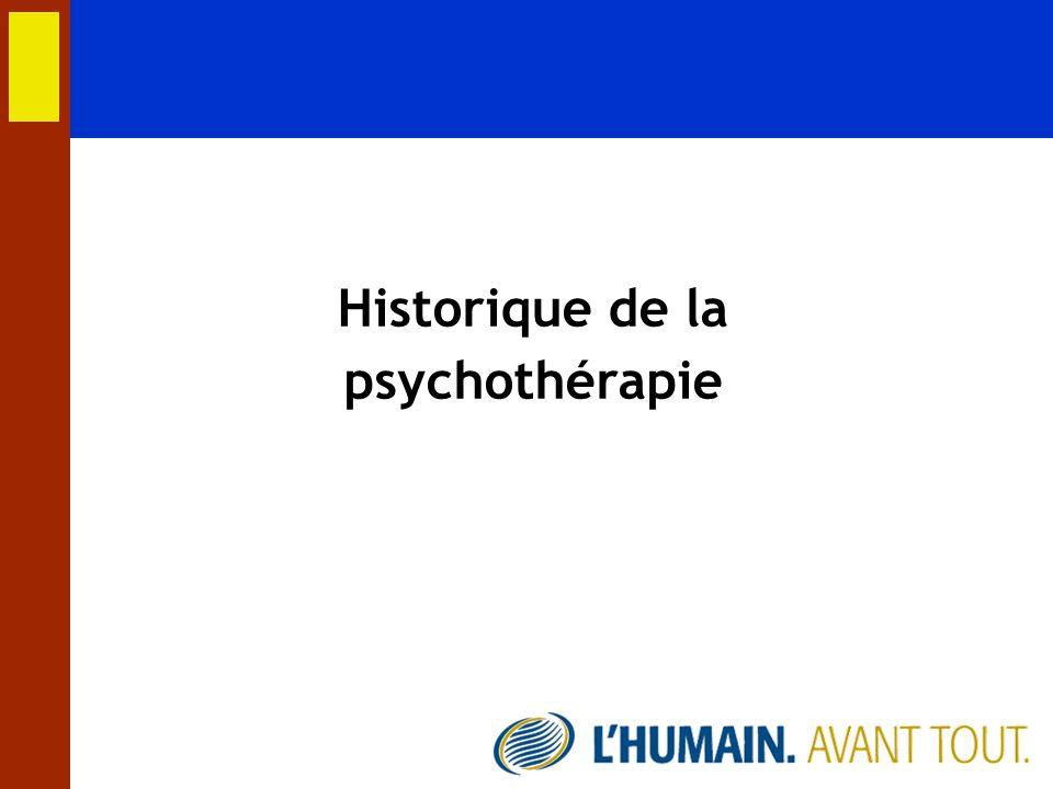 Historique de la psychothérapie