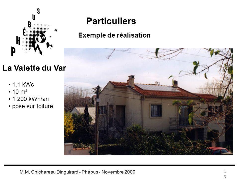 Particuliers La Valette du Var Exemple de réalisation 1,1 kWc 10 m²