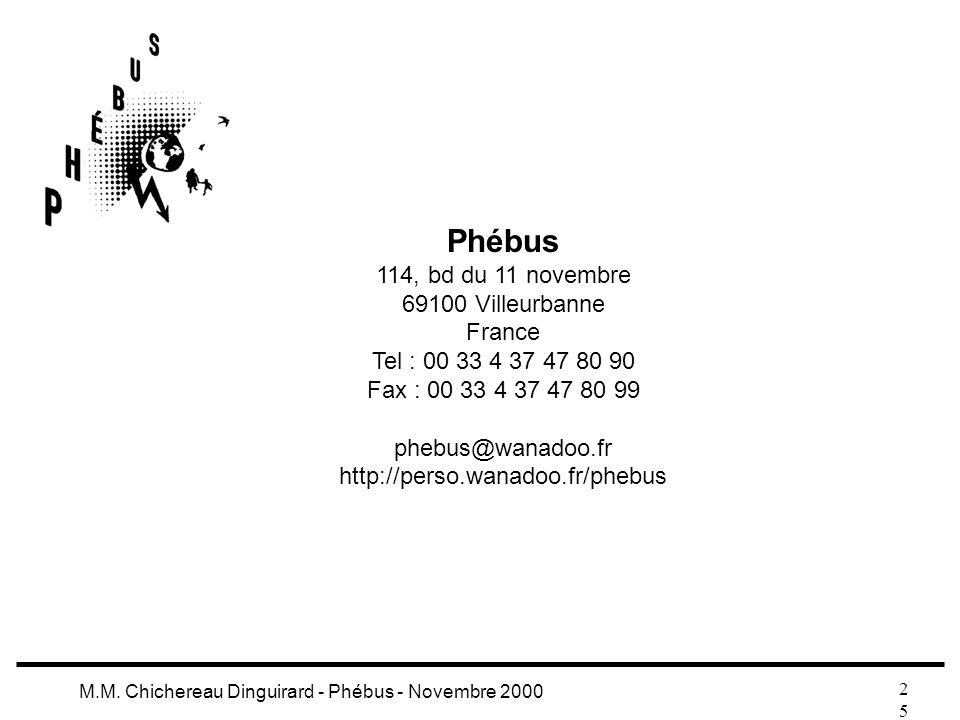 Phébus 114, bd du 11 novembre 69100 Villeurbanne France