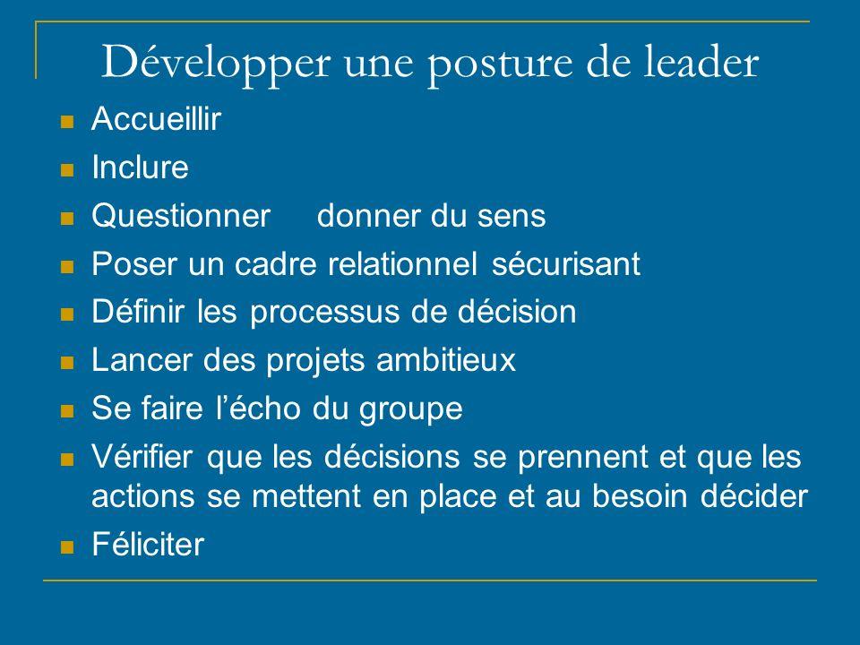 Développer une posture de leader