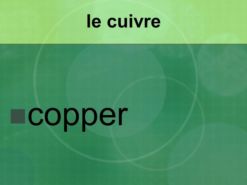 le cuivre copper