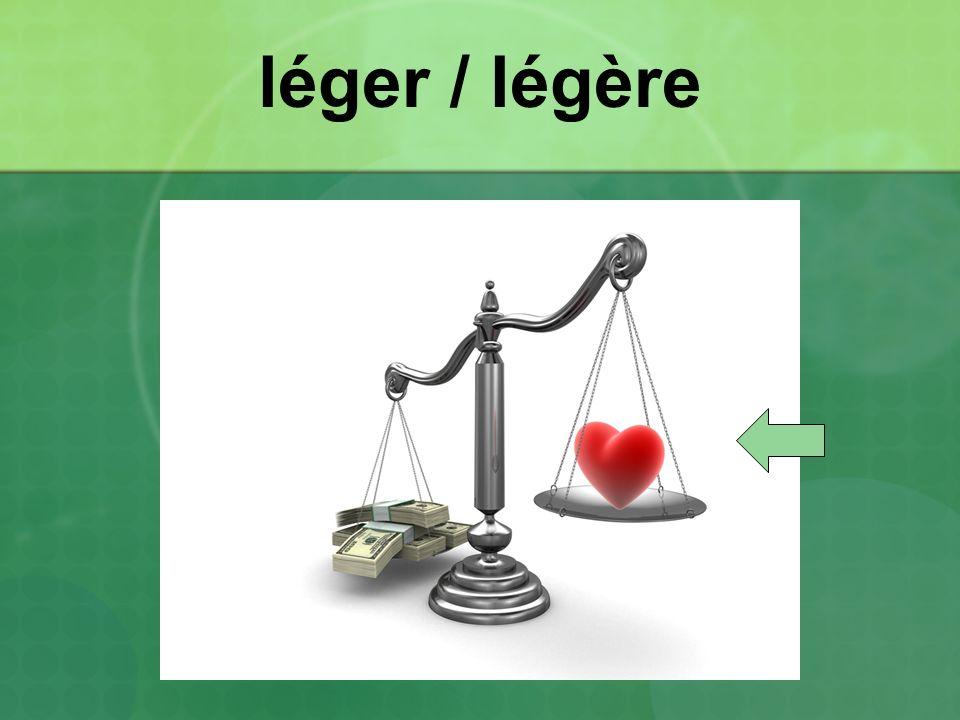 léger / légère