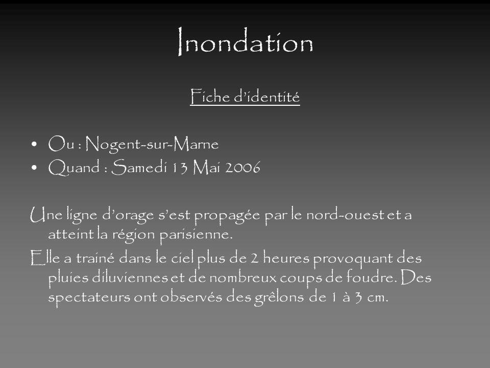 Inondation Fiche d'identité Ou : Nogent-sur-Marne
