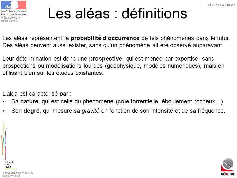 Les aléas : définitions
