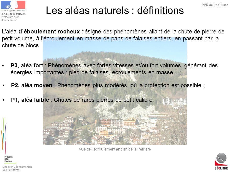 Les aléas naturels : définitions