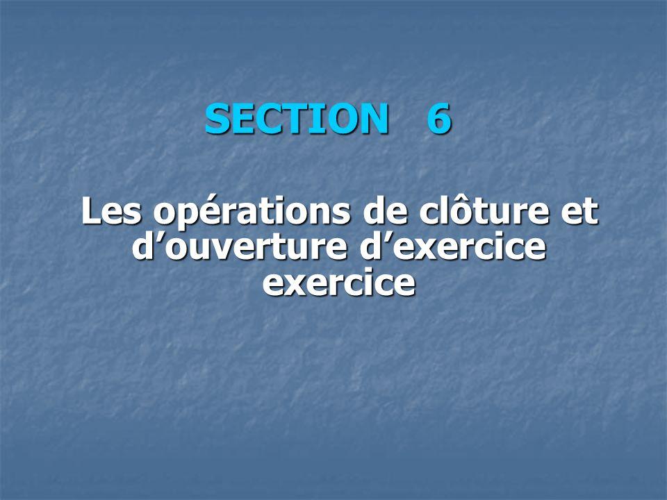 Les opérations de clôture et d'ouverture d'exercice exercice