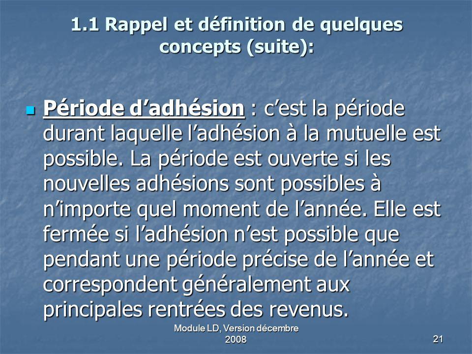 1.1 Rappel et définition de quelques concepts (suite):