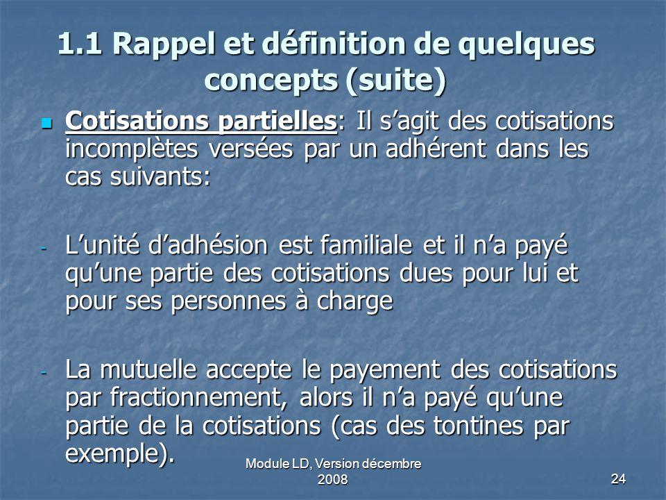 1.1 Rappel et définition de quelques concepts (suite)