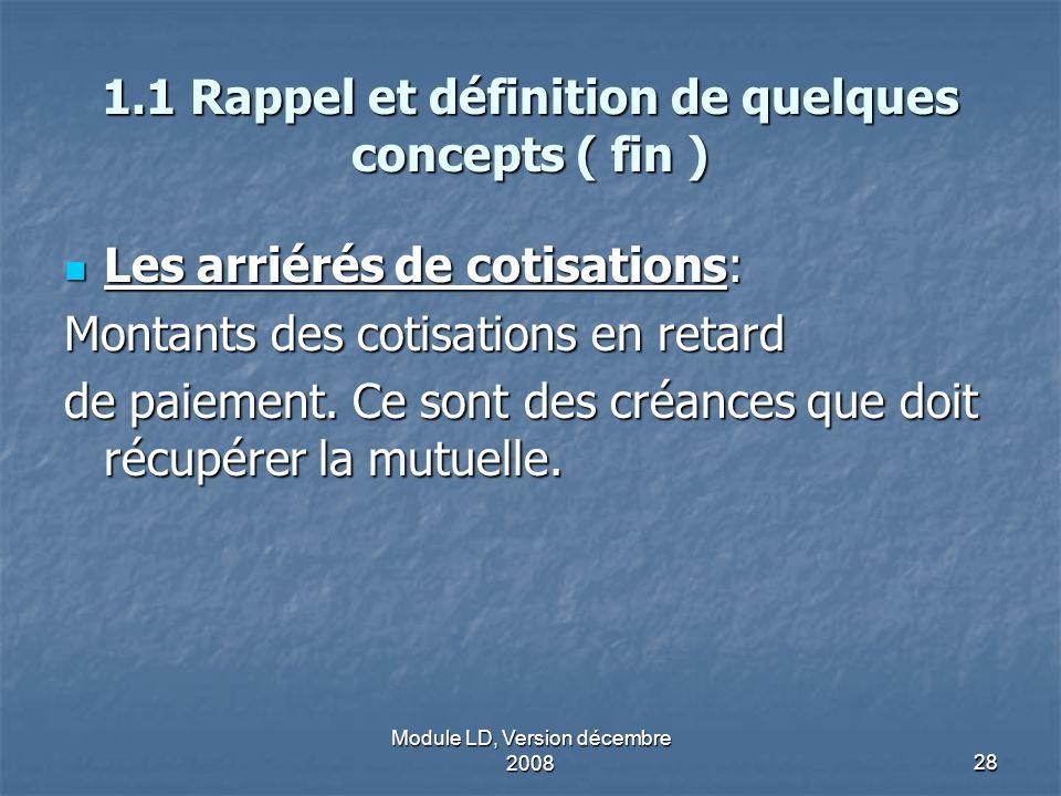 1.1 Rappel et définition de quelques concepts ( fin )