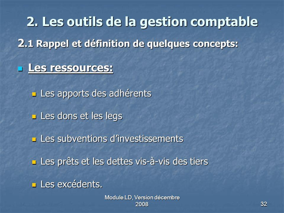 2. Les outils de la gestion comptable
