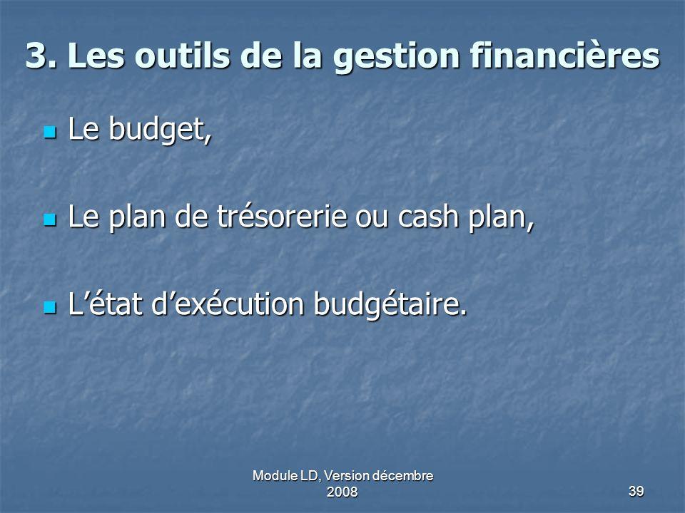3. Les outils de la gestion financières