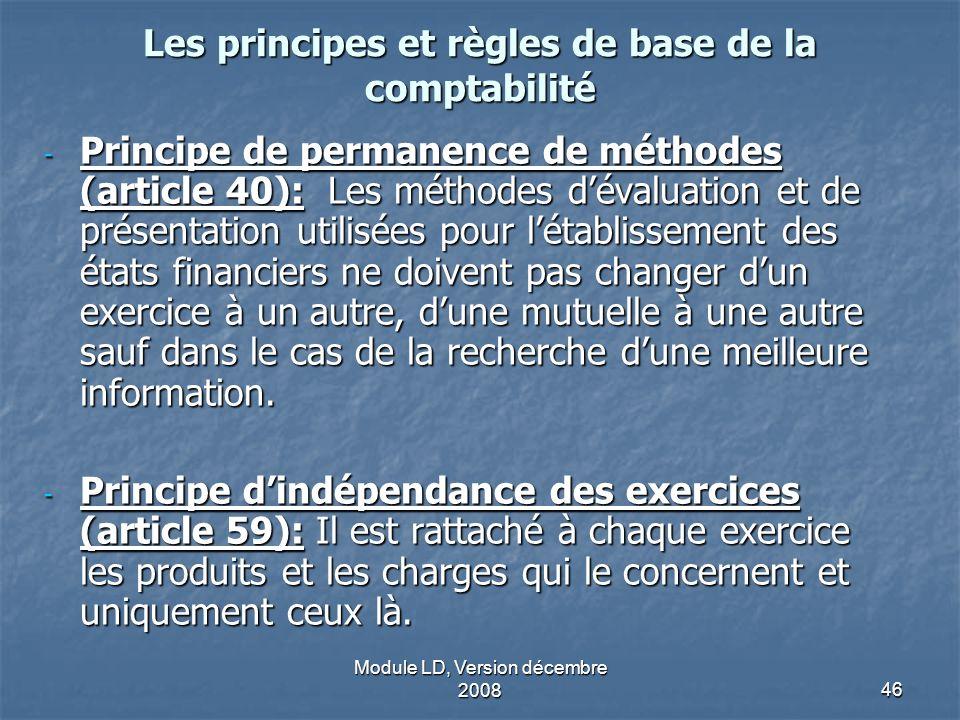 Les principes et règles de base de la comptabilité