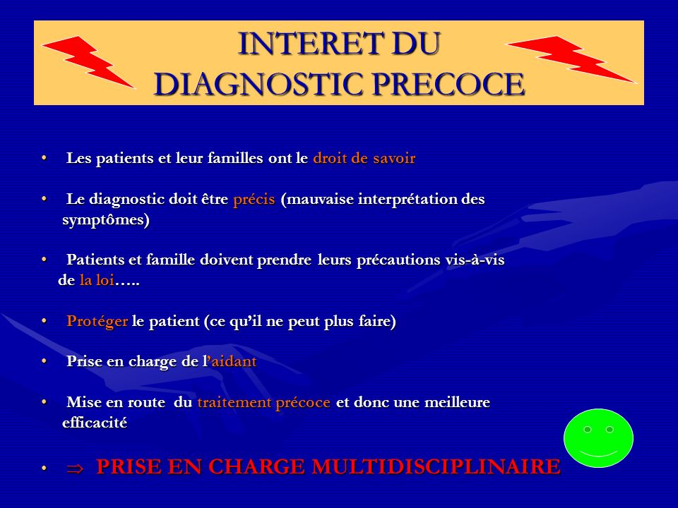 INTERET DU DIAGNOSTIC PRECOCE