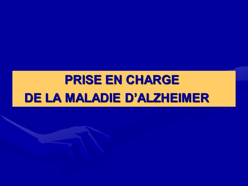 DE LA MALADIE D'ALZHEIMER