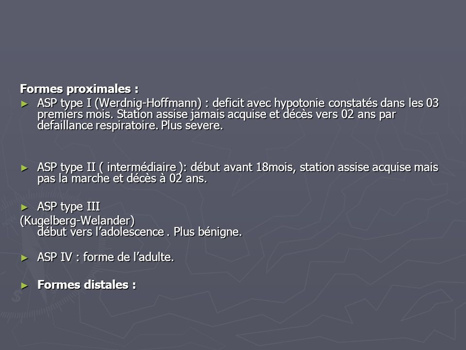 Formes proximales :