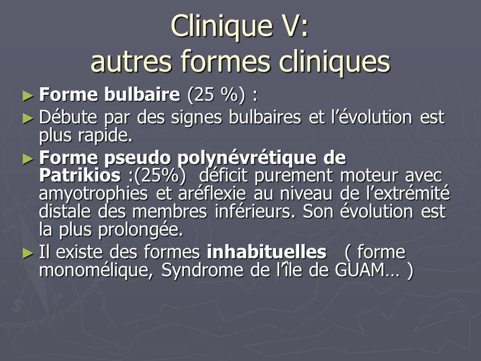 Clinique V: autres formes cliniques