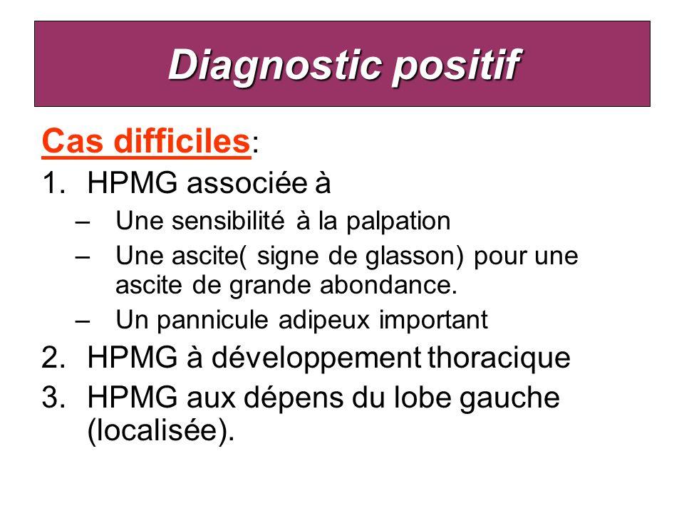 Diagnostic positif Cas difficiles: HPMG associée à