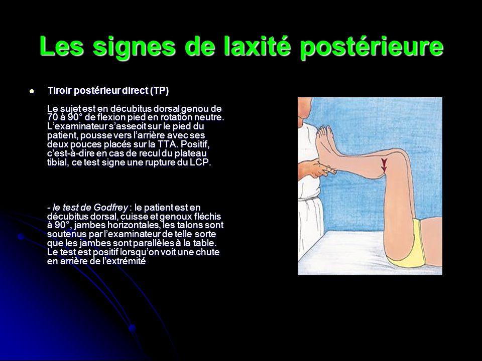 Les signes de laxité postérieure