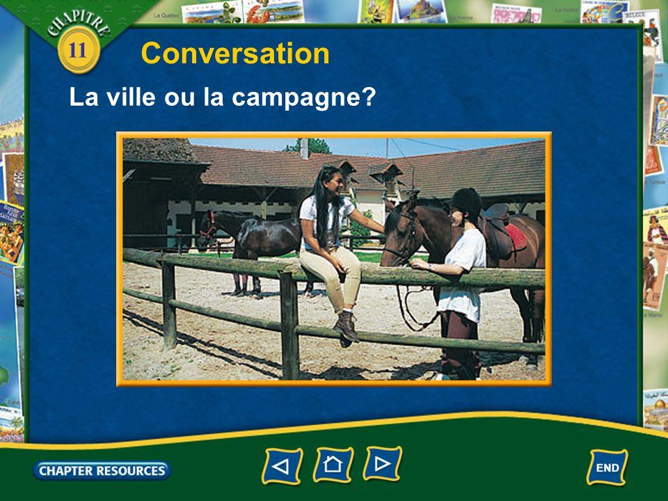 Conversation La ville ou la campagne