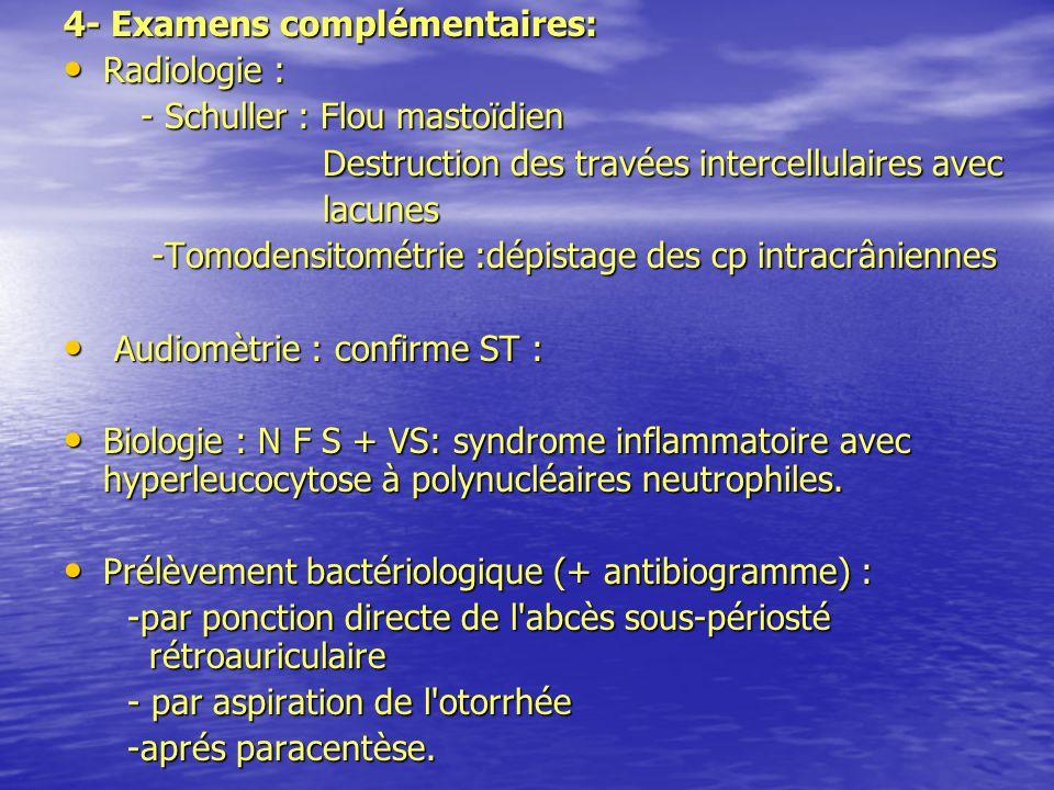 4- Examens complémentaires: