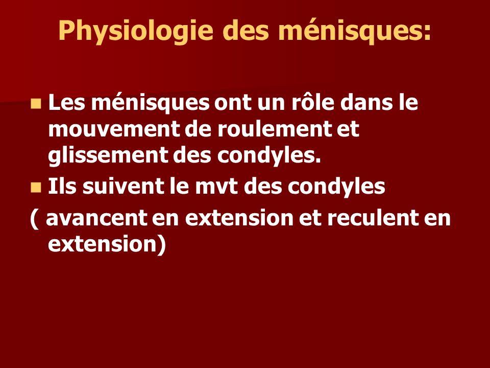 Physiologie des ménisques: