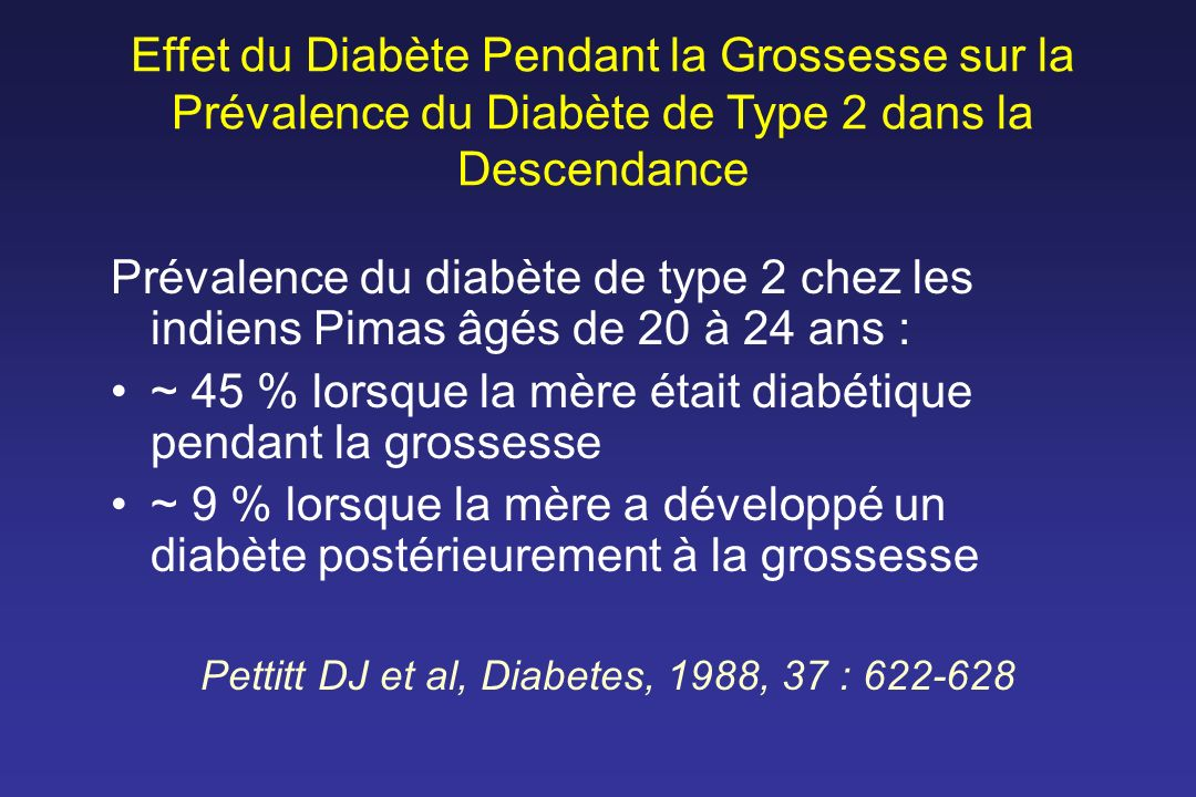 Pettitt DJ et al, Diabetes, 1988, 37 : 622-628