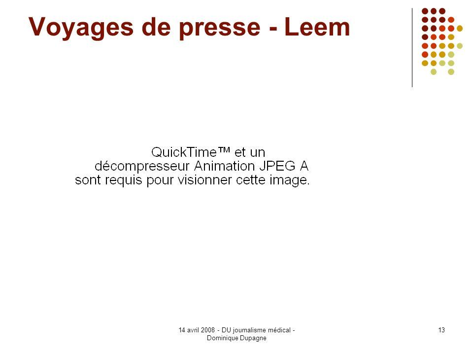 Voyages de presse - Leem