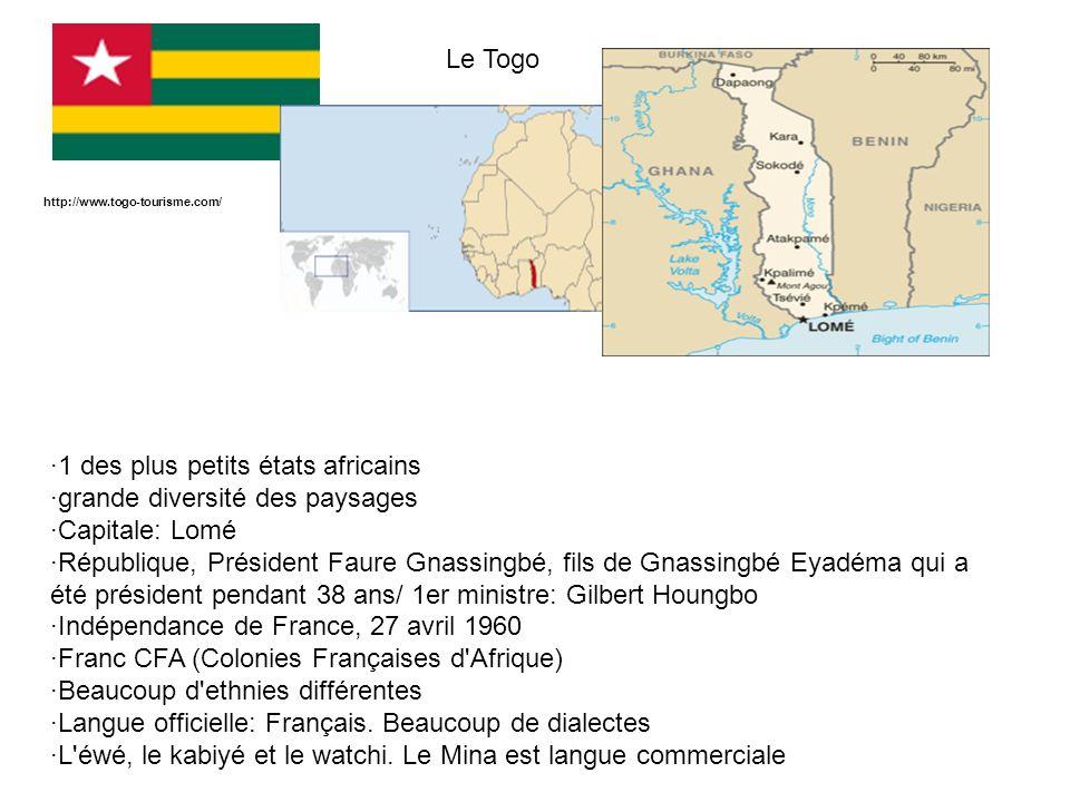 ·1 des plus petits états africains ·grande diversité des paysages