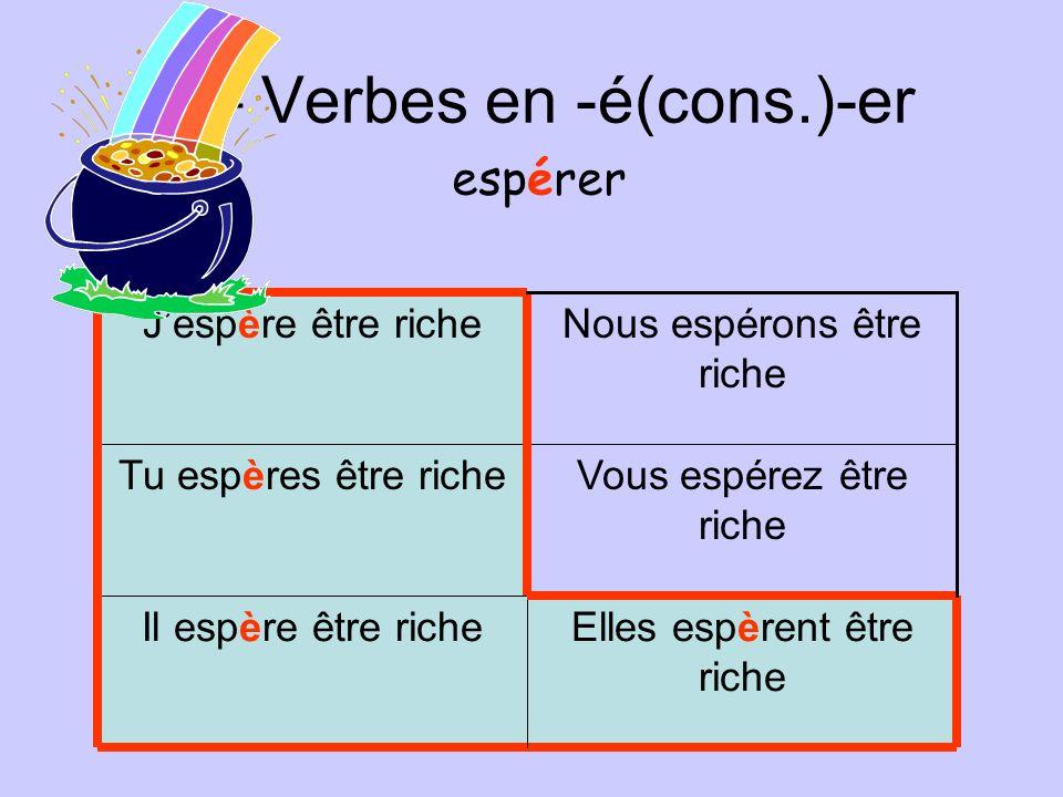 F – Verbes en -é(cons.)-er