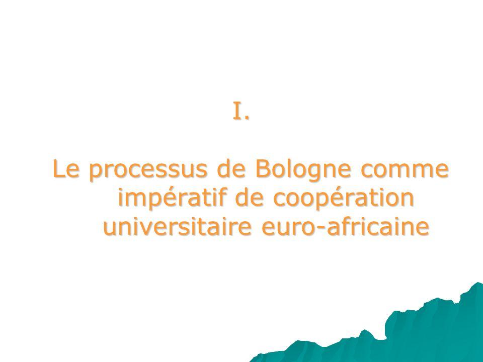 I. Le processus de Bologne comme. impératif de coopération