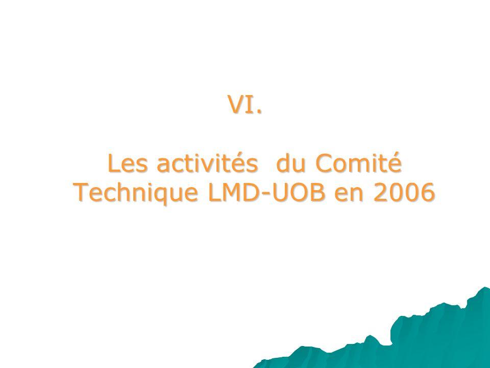 VI. Les activités du Comité Technique LMD-UOB en 2006