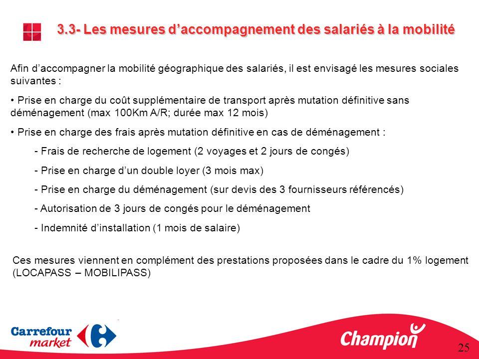 3.3- Les mesures d'accompagnement des salariés à la mobilité