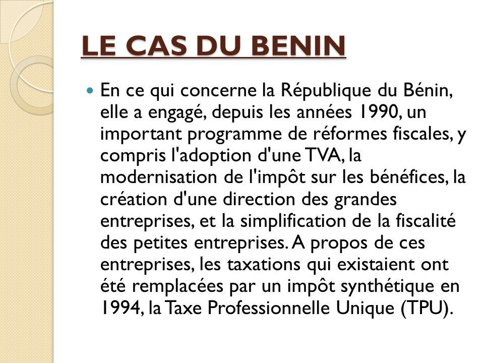 LE CAS DU BENIN